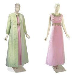A pair of Christian Dior dresses