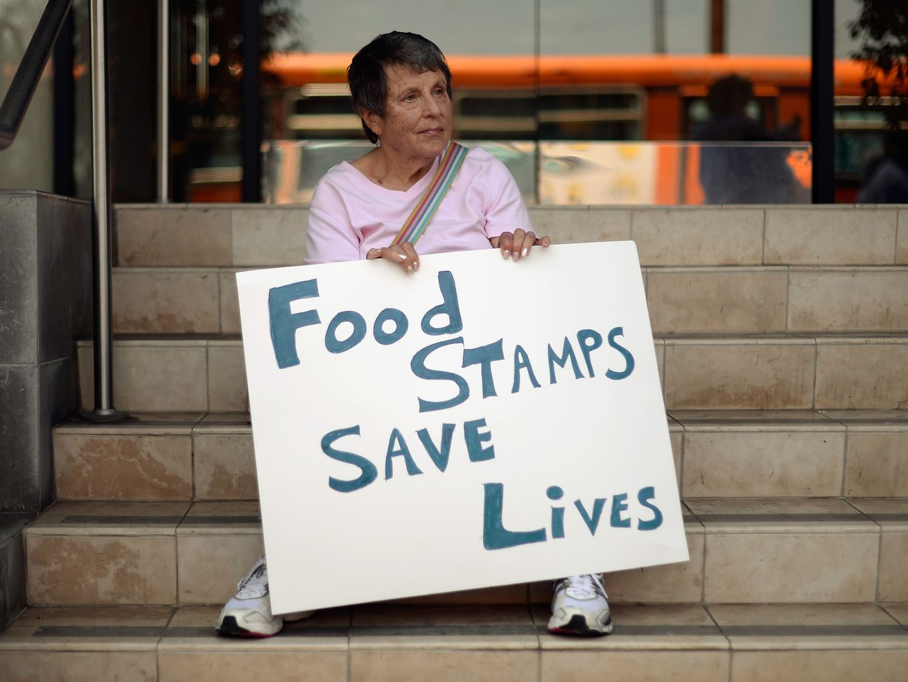 Californians rally in June against a House farm bill that would have slashed spending on food assistance for poor families.