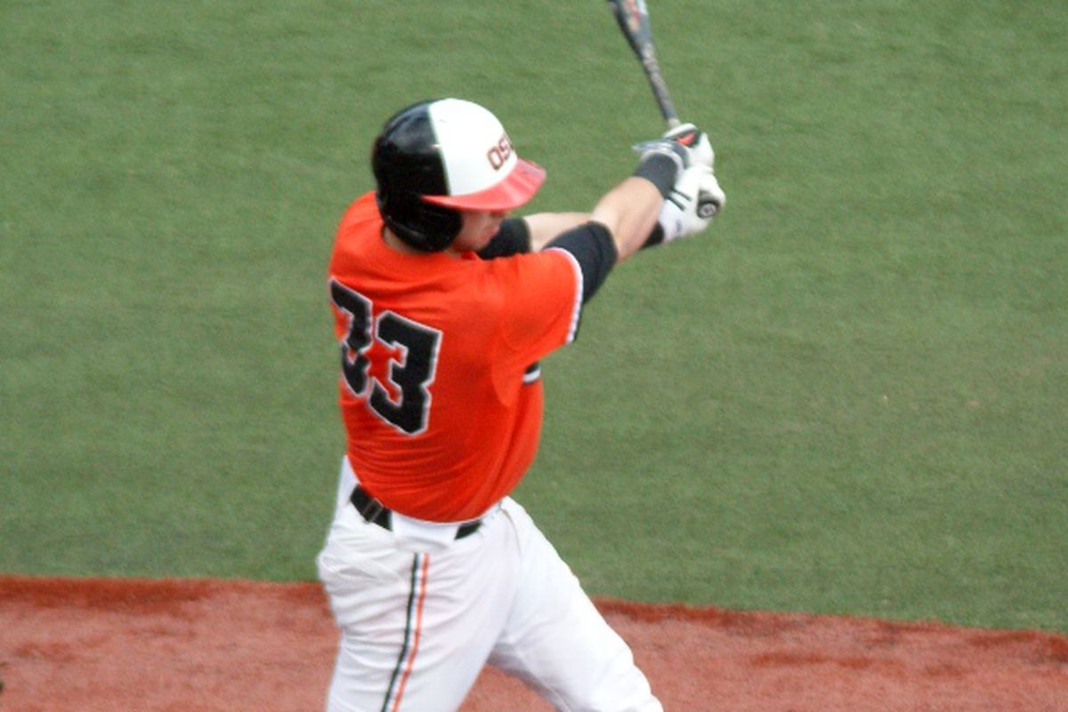 Logan Ice's first career home run was the only offense the Beavers could muster Saturday.