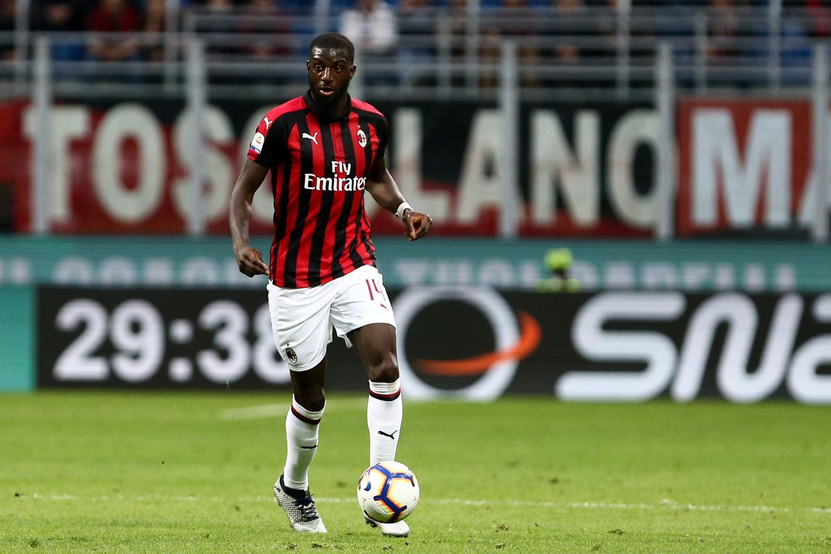 Tiemoue Bakayoko of Ac Milan in action during the Serie A...