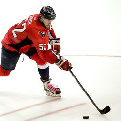 Green With Puck and Pink Laces, Hockey Fights Cancer