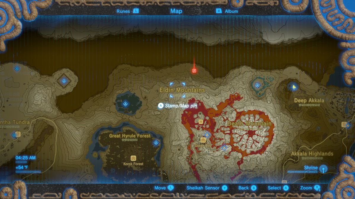 Breath of the Wild dragon locations for Naydra, Dinraal and Farosh on