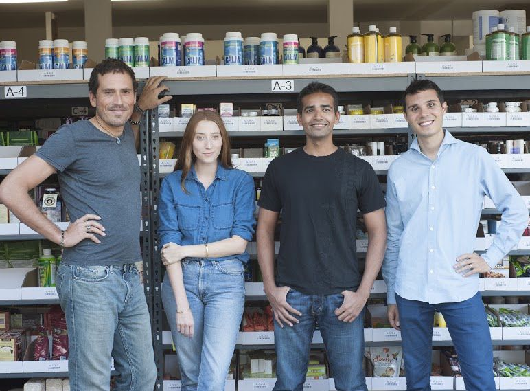 Thrive Market co-CEOs Gunnar Lovelace (far left) and Nick Green (far right) are joined by co-founders Kate Mulling and Sasha Siddhartha.