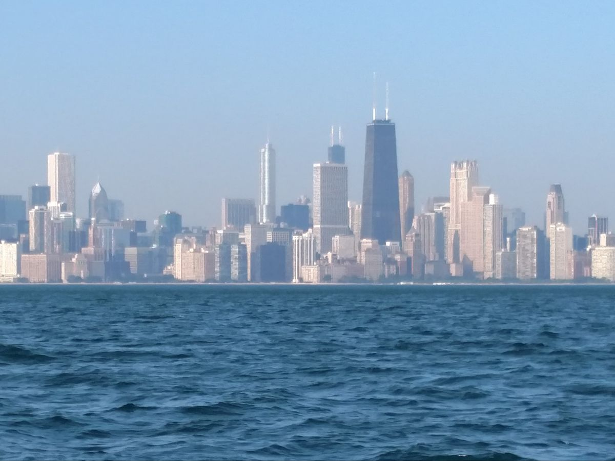 Pawar suggests turning Chicago's fresh water resource into something every resident owns in part. | Dale Bowman/Sun-Times