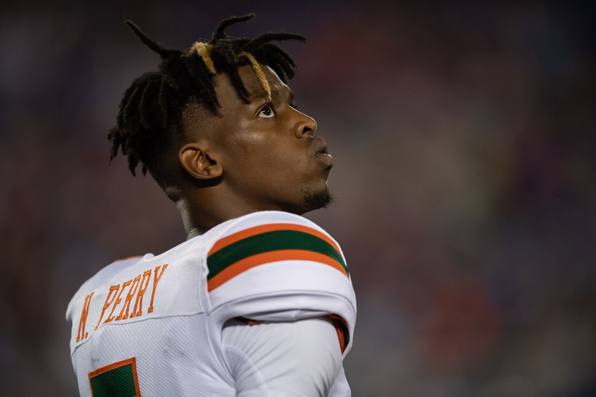 A Miami Hurricanes quarterback was absent from Wednesday's practice session