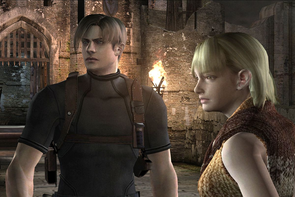 Leon and Ashley in Resident Evil 4