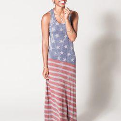 "Flag Print Racer Back Maxi Dress at <b>Flock</b>, <a href=""http://www.flockboston.com/flag-print-racer-back-maxi-dress.html"">$98</a>"