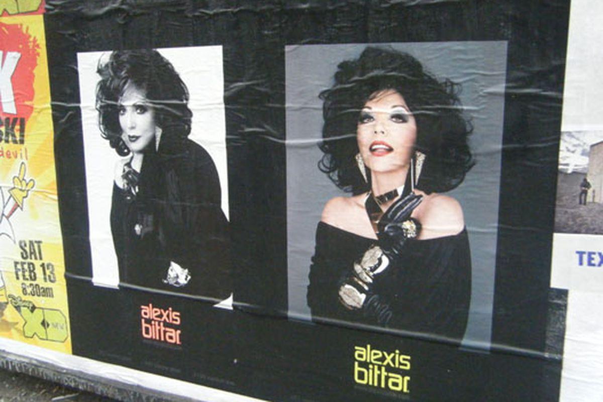 Alexis Bittar's <del>Liz Taylor-ish</del> Joan Collins-ish model on Third Avenue