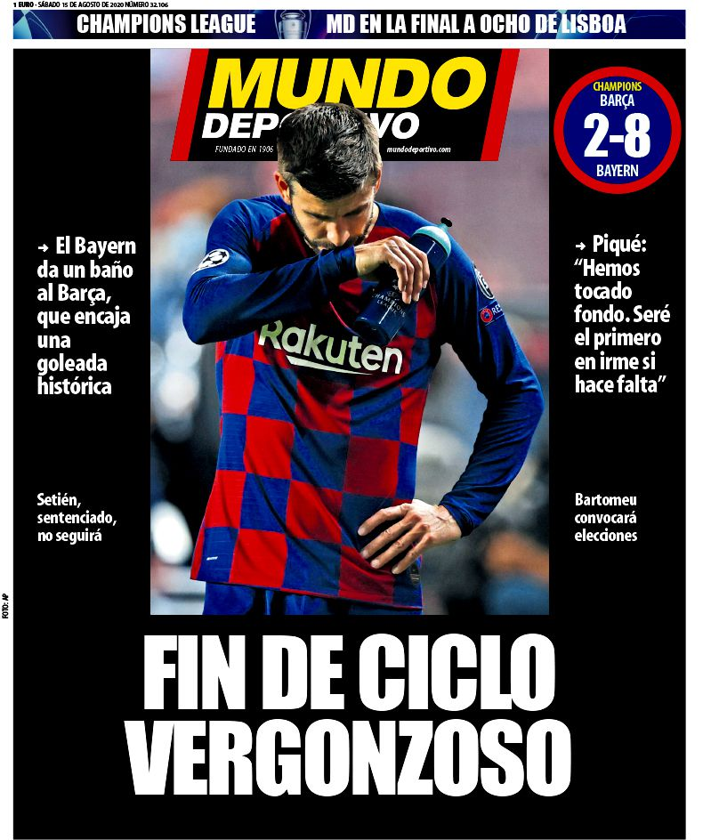 How The Papers Reacted To Barcelona S Humiliating Ucl Defeat To Bayern Barca Blaugranes