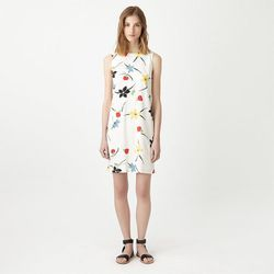 """<b>Steven Alan</b> Sleeveless Shift Dress in Ecru Floral, <a href=""""http://www.stevenalan.com/840390108579.html"""">$325</a>"""