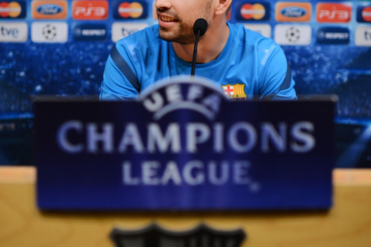 Pique's press conference serves as an indication that he will start tomorrow