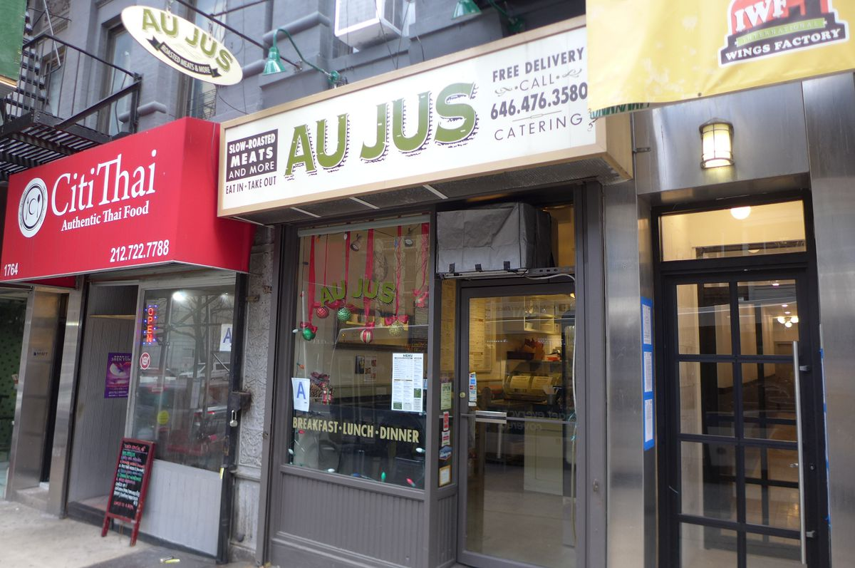 Au Jus specializes in roast meats and Oklahoma BBQ.