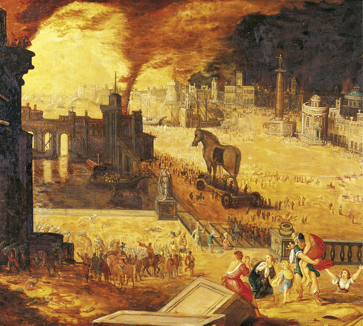 The Siege of Troy, 17th century