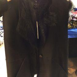 Shearling vest, $1600