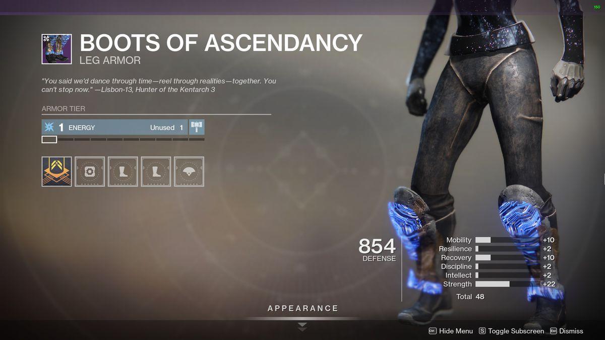 Destiny 2's Boots of Ascendancy