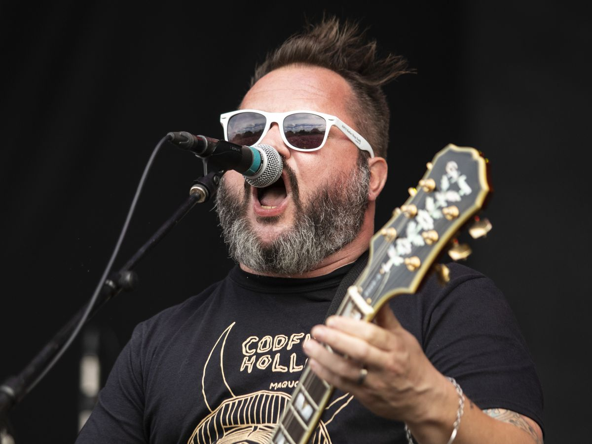 Matt Pryor, of The Get Up Kids, performs on day one of Riot Fest, Friday afternoon, Sept. 13, 2019.