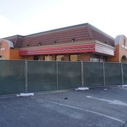 Former Taco Bell building, now fenced off