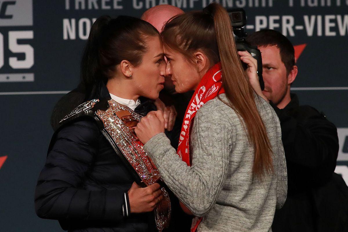 Joanna Jedrzejczyk and Karolina Kowalkiewicz (GettyImages)