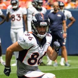 Broncos WR Nick Williams eyes his spot to get into position.