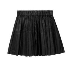"""<a href=""""http://www.net-a-porter.com/product/315339"""">Saatchi pleated faux leather mini skirt <b>by</b> Karl</a>, $70 (was $175)"""