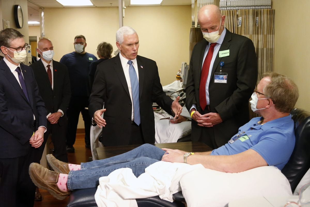 Vice President Mike Pence chose not to wear a face mask while touring the Mayo Clinic in Minnesota on Tuesday. It's an apparent violation of the world-renowned medical center's policy requiring them.