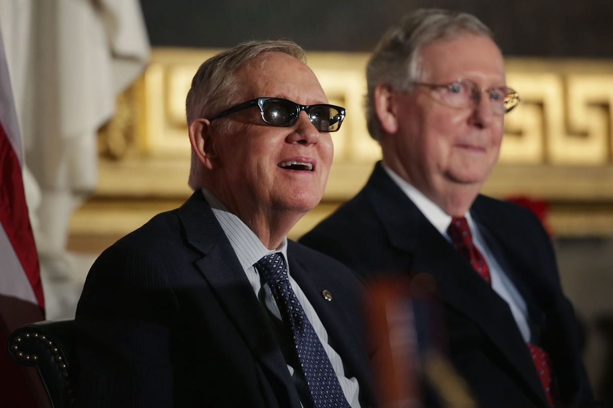 Senate Minority Leader Harry Reid (D-NV) and Majority Leader Mitch McConnell (R-KY).