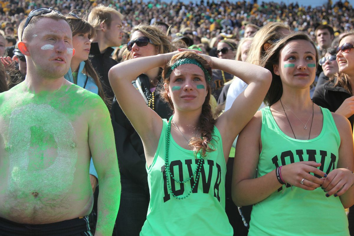 Eldely With No Fan : When will hawkeye fans start booing their seniors this