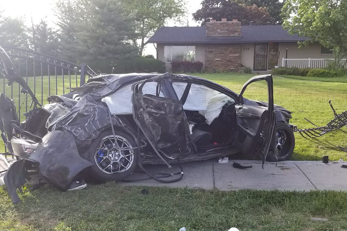 One person died and four more were injured Sunday, May 17, 2020, in a crash in Kaysville.