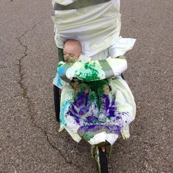 One of the race's youngest participants at The Color Run 5K.