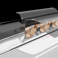 Hyperloop passenger car door open