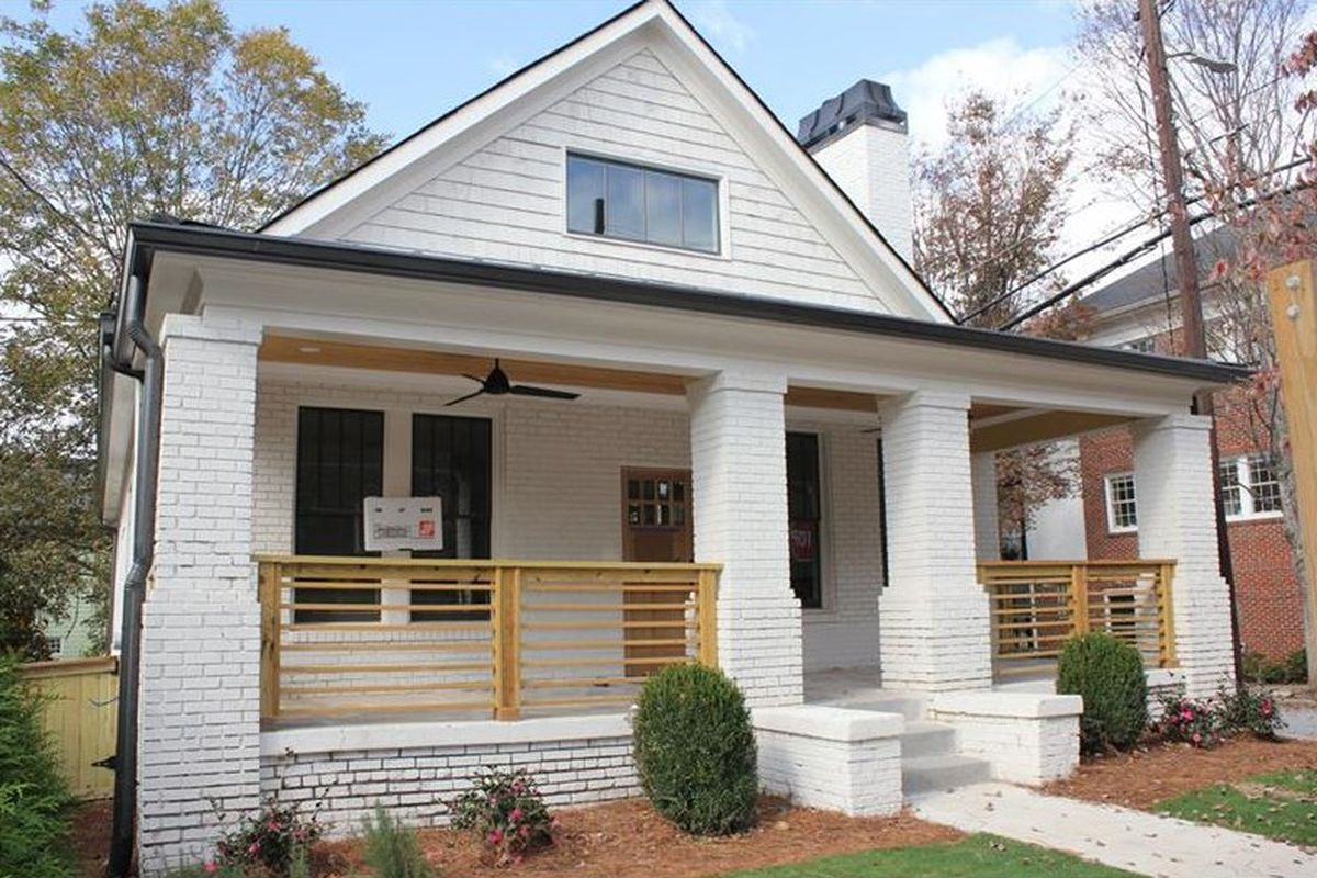 A renovated bungalow for sale in Atlanta's Old Fourth Ward.