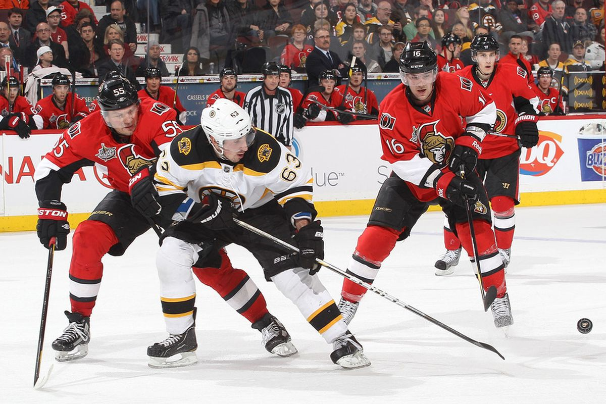 Can the Senators catch the Bruins for the Northeast Division title? (Photo by Jana Chytilova/Freestyle Photography/Getty Images)