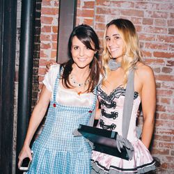 Eater LA editor Kat Odell as a classic cigarette girl, chillin' with Dorothy.