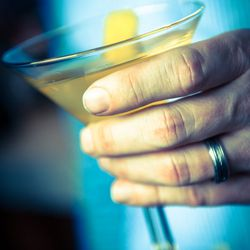 The Ebb and Flow: manzanilla sherry, gin and Royal Rose saffron syrup