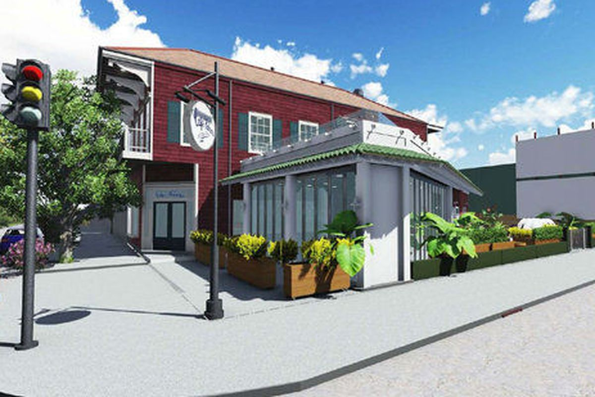A rendering of Cafe Habana by Rozas Ward architects