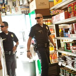 """Michael Pena and Jake Gyllenhaal in """"End of Watch."""""""