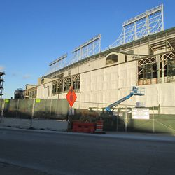 Sun 1/10: west front, in new wraps -