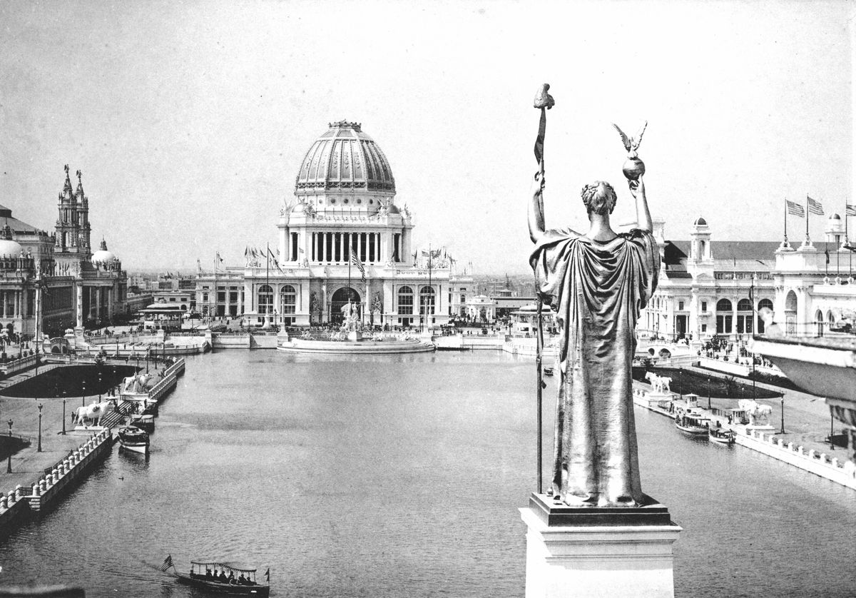 A view from Statue of the Republic at the 1893 World's Fair.