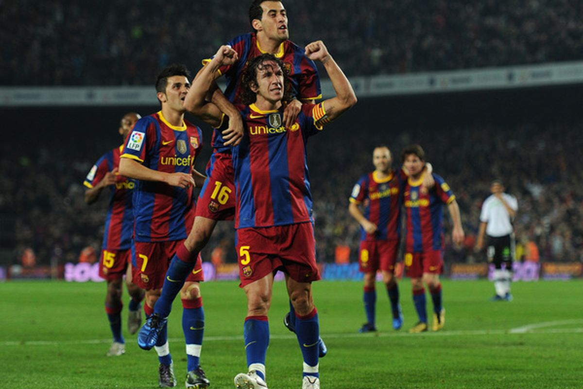 Puyol believes Barcelona will be able to celebrate (like this) more often than not if they continue to play like they did against AC Milan