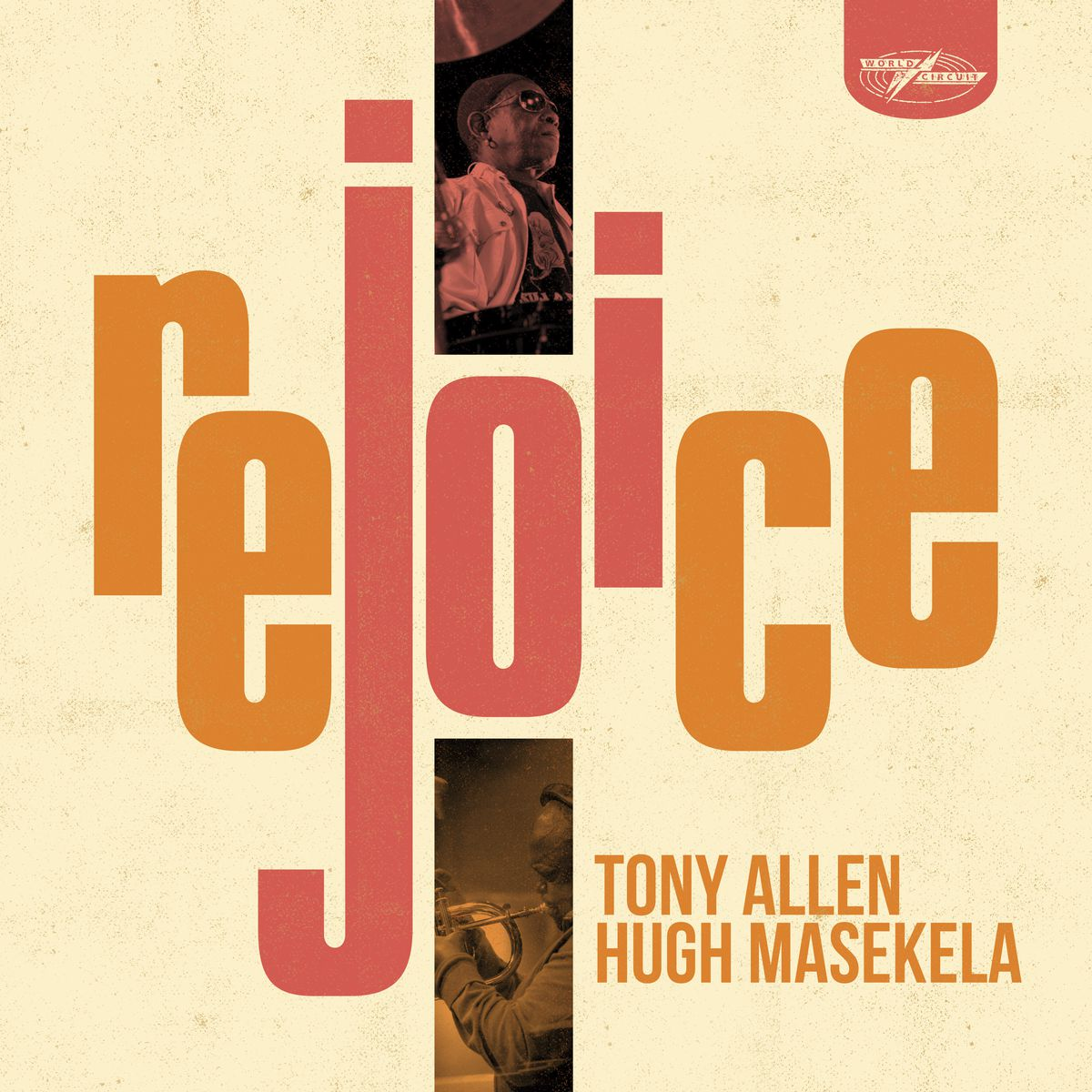 """This cover image released by World Circuit Records shows """"Rejoice"""" a release by Tony Allen & Hugh Masekela."""