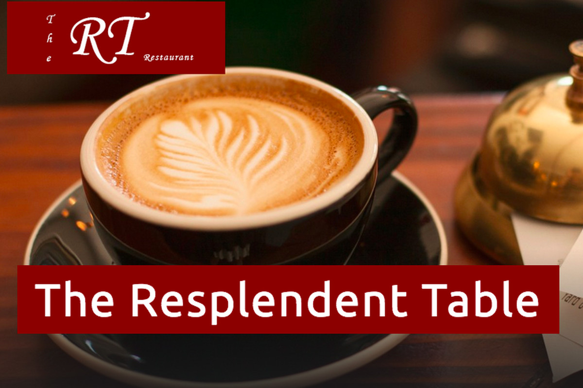 The Resplendent Table's website home page.