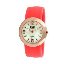 "<a href=""https://www.tkowatches.com/shop/watches/Neon-Slap-Watch-Metal-Rose-Gold-Neon-Orange-947.html""> TKO Neon slap watch</a>, $50 tkowatches.com"