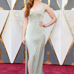 """""""Game of Thrones"""" star Sophie Turner wears a bespoke Galvan for Opening Ceremony crepe dress. You can't tell, but it's actually mint green. Photo: Jeff Kravitz/Getty Images"""