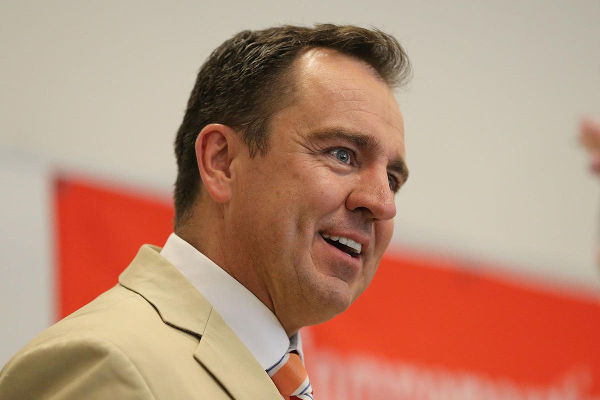 FILE - Utah State House Speaker Greg Hughes, speaks at the University of Utah, organized by the Utah Chinese Organizing Committee May 30, 2015, in Salt Lake City. Hughes has ended the longstanding practice of holding daily availability with the news media