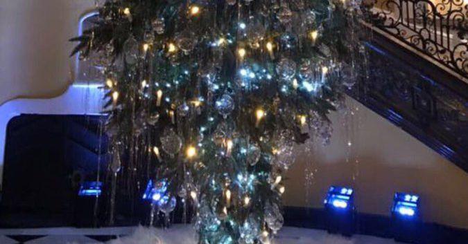 Victor Moses' Upside Down Christmas Tree Wins Christmas