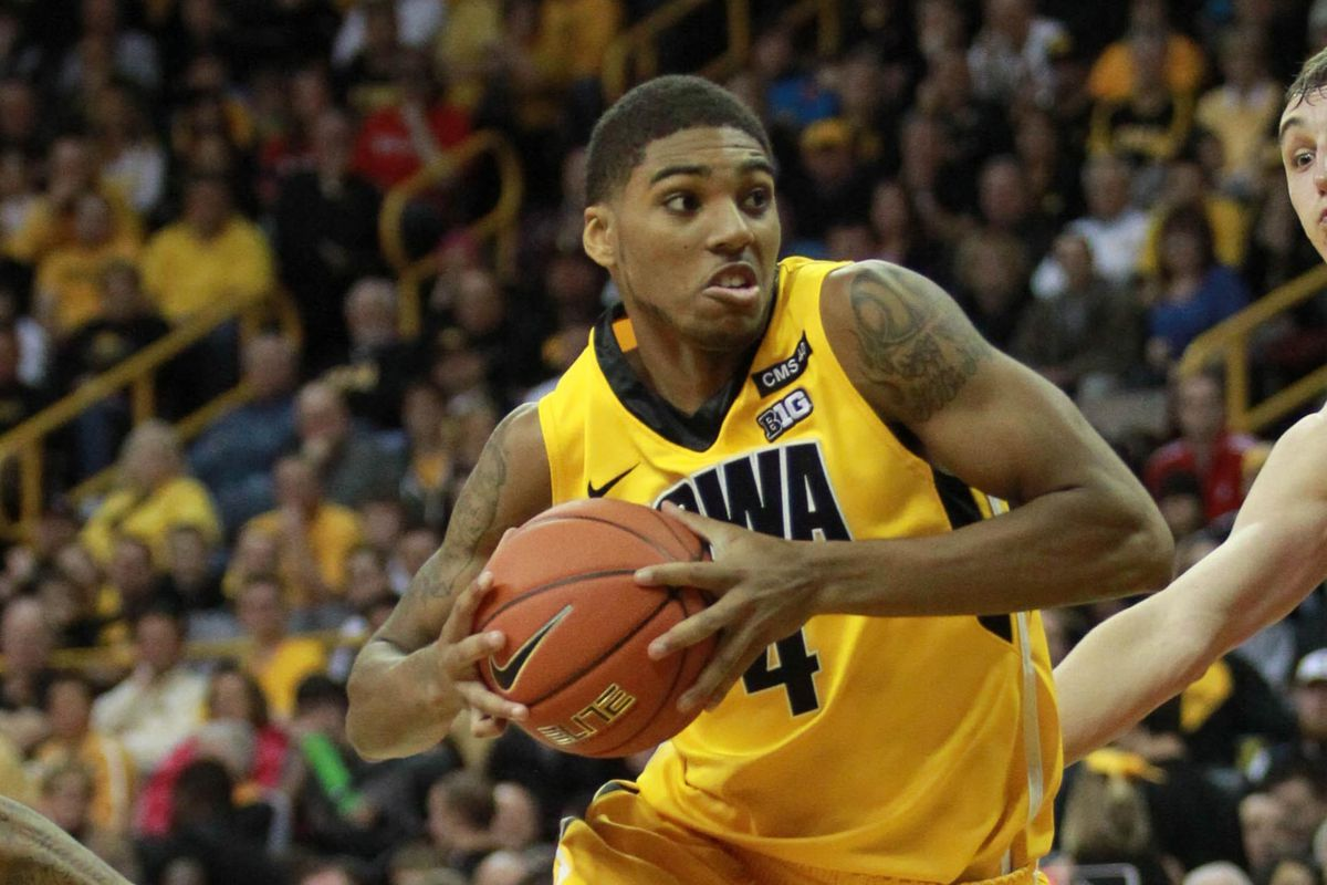 Marble leads the line for the Iowa Hawkeyes.