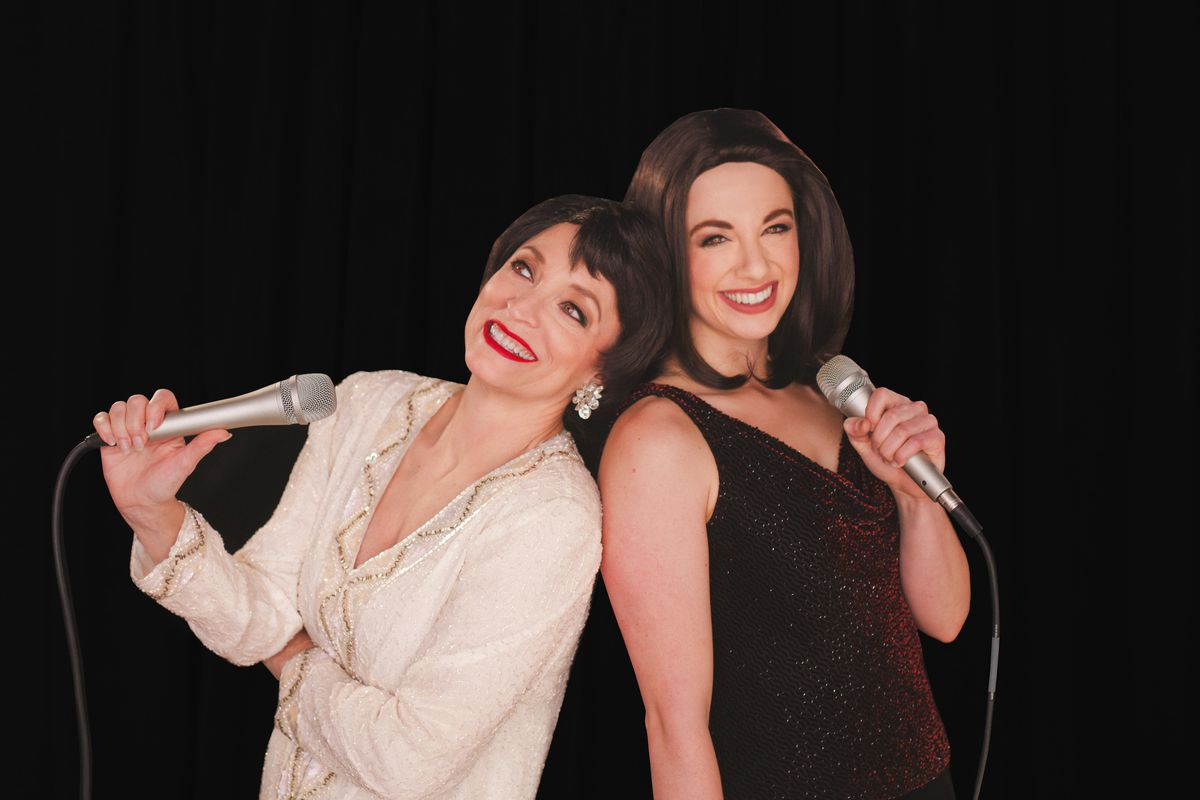 """Nancy Hays and Alexa Castelvecchi star in """"Judy & Liza,"""" a tribute to the iconic 1964 concert with Judy Garland and her 18-year-old daughter Liza Minnelli."""