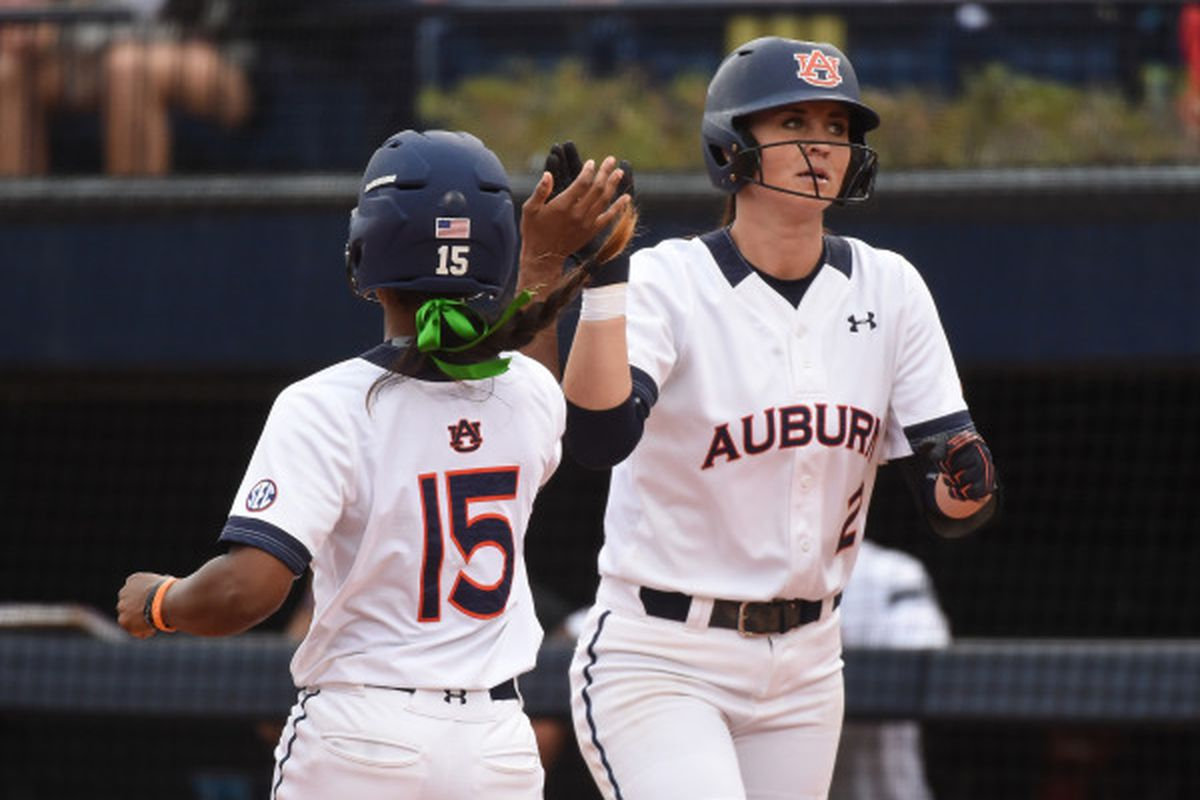 Haley Fagan picked up her first hit of the season - an RBI double - against USC Upstate