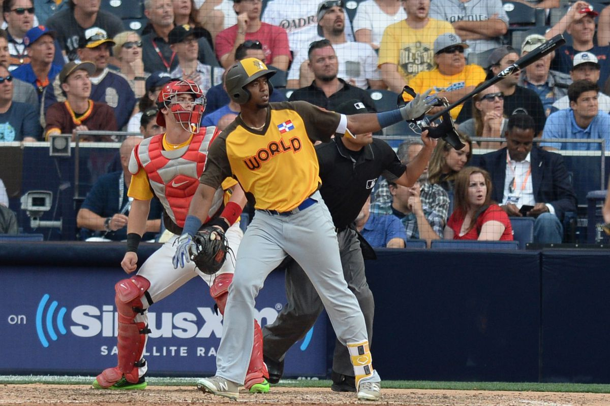 Eloy Jimenez at the 2016 Futures Game