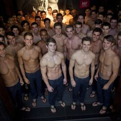 shirtless men group